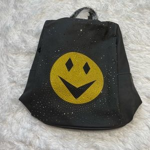 Smiley Face Leather Backpack